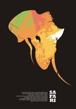 Safari Travel Poster Design Wi...
