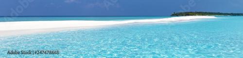 Maldivian sandbank in Indian ocean Canvas Print