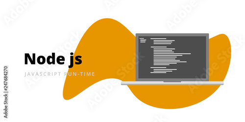 Photo Learn to code Node JS Javascript run-time programming language with script code