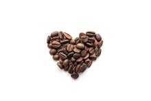 Heart Shape Of Roasted Coffee ...