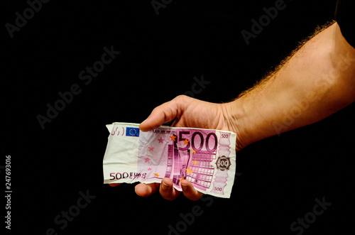 Fotografering  European Euro Money Banknote