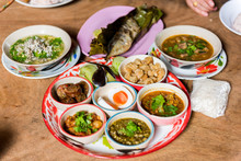 Traditional Northern Thai Food. Thai Cuisine Spicy Food.