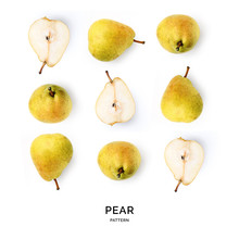 Seamless Pattern With Pear. Tr...