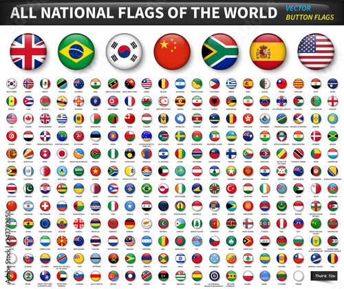 Obraz na plátne All national flags of the world