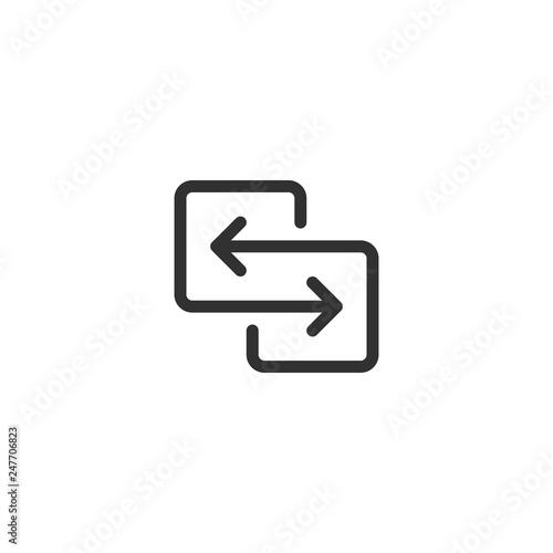 Obraz na plátně black direction arrows for transfer, sync, migration data