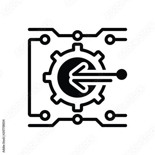 Fotografie, Obraz  Black solid icon for integration