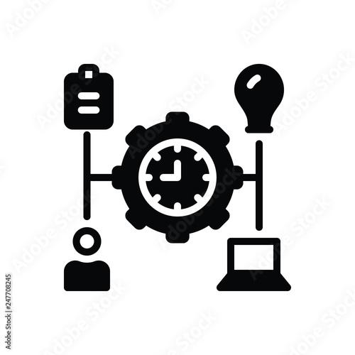 Fotografie, Obraz  Black solid icon for manage
