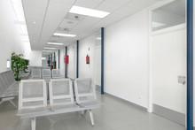 Public Building Waiting Area. Health Center Interior. Nobody