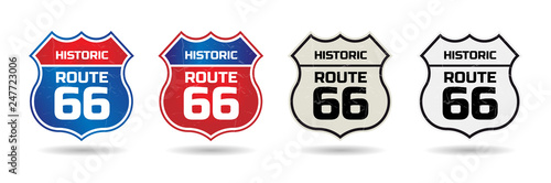 Photo  Historic route 66 shield