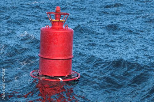 Obraz na plátně Marine buoy in the open sea, 3D rendering