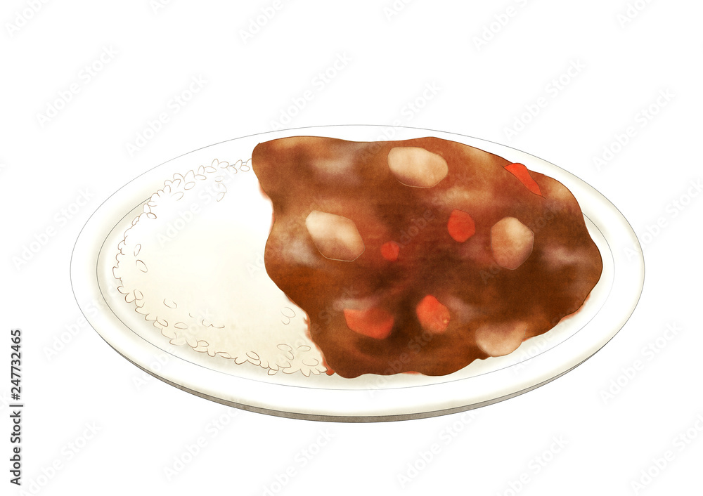 Ryż curry <span>plik: #247732465 | autor: イロイロ</span>