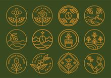 Premium Single Origin Line Badge Design