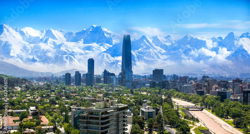 Photo  Santiago Chile cityscape