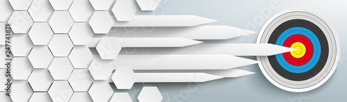 Fotografía Hexagons Structure Arrows Classic Target Header