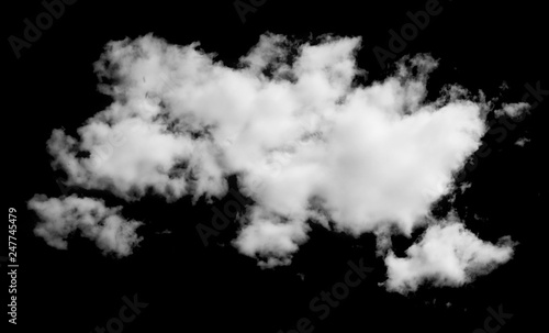 Canvas Prints Heaven Fluffy cloud isolated on black background