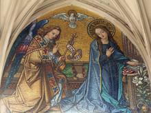 Mosaic Of Annunciation From Main Portal Of Maria Am Gestade Church In Vienna