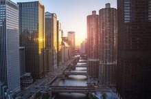 Chicago Skyline. Chicago Downt...