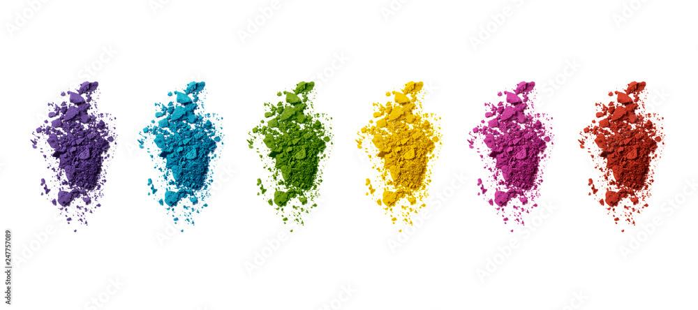 Fototapety, obrazy: Palette de couleurs maquillage fards à paupières sur fond blanc