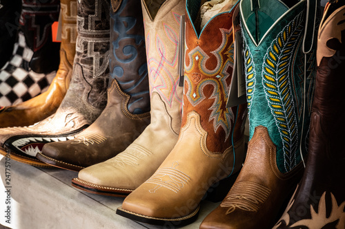 Cowboy boots for sale Wallpaper Mural