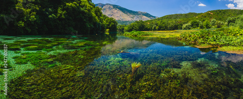 Photo Blue Eye spring and river in Albania, Saranda area.