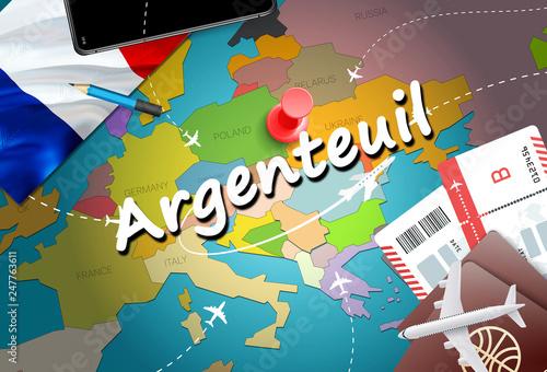 Argenteuil city travel and tourism destination concept Canvas Print