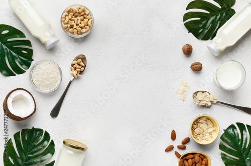 Fotografia  Lactose free milk concept
