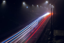 Traffic Of Night City Bila Tserkva