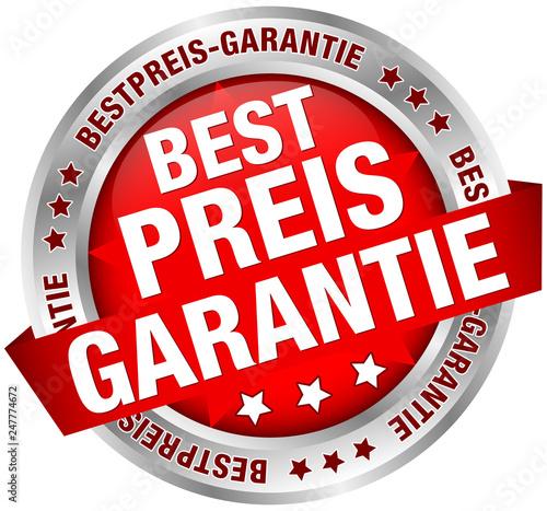 Button Banner Bestpreis-Garantie Rot/Silber Wallpaper Mural