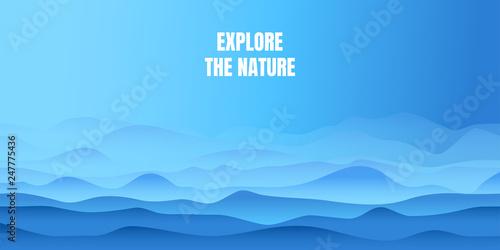 Türaufkleber Pool Abstract wavy background