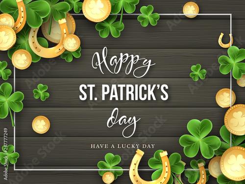 Carta da parati St. Patricks Day greeting holiday design.