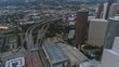 This video is about an aerial of traffic on freeway in downtown Houston. This video was filmed in 4k for best image quality.