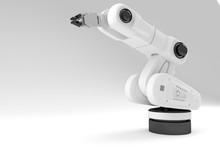 3d White Arm Robot