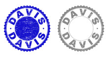 Grunge DAVIS Stamp Seals Isola...