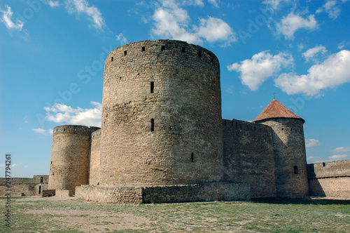 Foto  Fortress towers of the medieval ackerman fortress