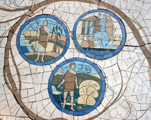 Mosaic In Front Of The Church ...