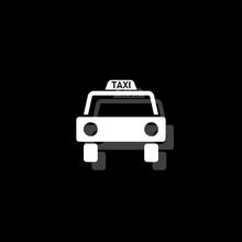 Taxi Car Icon Flat