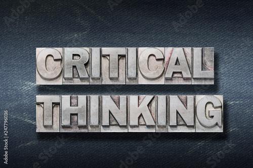 Fotografía  critical thinking den