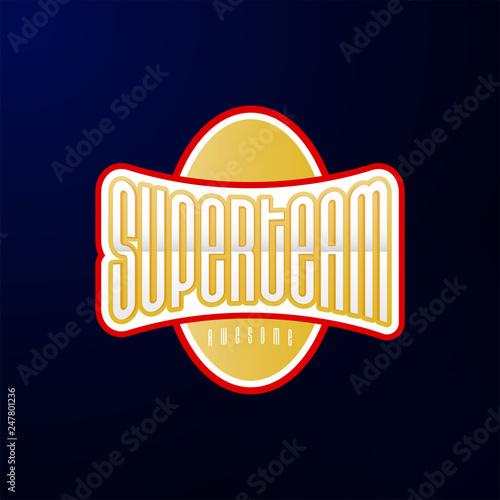Sport emblem typography Tablou Canvas