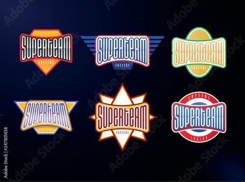 Fotografie, Tablou  Sport emblem typography set