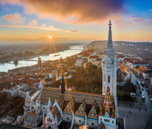 Budapest, Hungary - Aerial Vie...