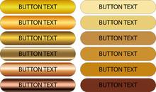 Bottone Oro E Bottoni Flat Kit Grafico Gold Per Il Web E La Stampa