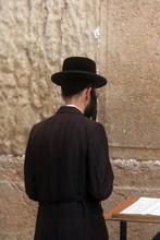Jewish Men Pray At The Western...