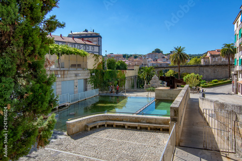pool of hot thermal and medicinal waters of the Burgas in the city of Ourense