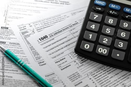 filing u.s. individual income tax return form 1040 Canvas Print