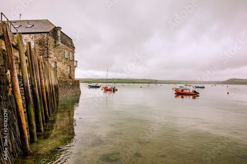 The River Camel at Rock in North Cornwall, England, adjacent to the harbour town of Padstow Canvas Print