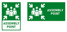 Assembly / Meeting Point Icon. Vertical And Horizontal Version.