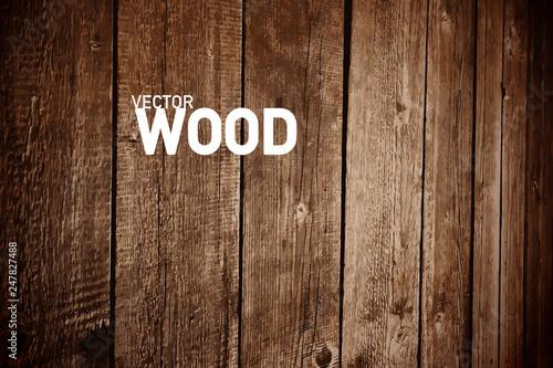 Fotografía  Wooden Vector Background