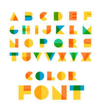 Color Font. Vector Letters Iso...