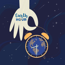 Earth Hour Day Social Poster W...