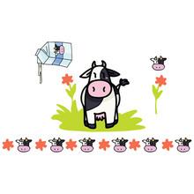 Cute Cow Milk Cartoon Vector I...